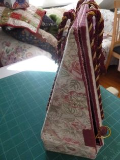 Travelling bobbin lace pillow with side flap closed by teddybearmargaret.
