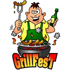 Grillfest full color #illustration #customprint #POD #CardvibesCatalog #Cardvibes #Tshirts #Aprons #BBQ