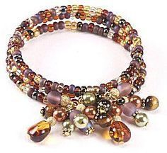 Jewelry Making Idea: Toffee Burst Bracelet (eebeads.com) #Beading #Jewelry #Tutorials #jewelrymakingtutorials
