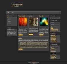 Gentle Indigo Elegance   Website Template   This is a responsive 3 ...