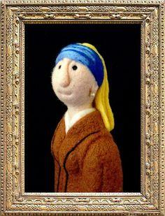 Needle felted 'Vermeer to Eternity' - SShaw