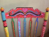painted chair closeup