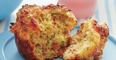 Savoury mighty Muffins - A muffin with oodles of cheesy-flavour and perfect packed for a picnic or fresh-from-the-oven. Muffin Tin Recipes, Baking Recipes, Dog Food Recipes, Muffin Tins, Savory Muffins, Savory Snacks, Cheese Muffins, Savoury Muffin Recipe, Corn Muffins