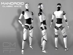 """Second Life Marketplace - CMFF - MANDROID """"Classic White"""" Mesh Avatar"""
