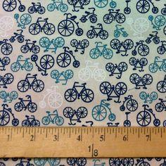 Blue Bikes Fabric