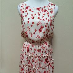 NWT WAYF Where Are You From White Floral Dress NWT WAYF Where Are You From Nordstrom White Red Floral Lined Dress Corset Back Women Small. Brand new! White dress with abstract red floral print. Elastic waist. Back cut out with corset tie shoulder back. Super cute! Very clean and comes from smoke free home. Questions welcomed! WAYF Dresses
