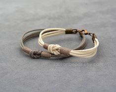 Couples Bracelet Love Knot Long distance Bracelet Set Her