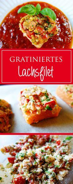 Gratiniertes Lachsfilet - ein einfaches, schnelles & herzhaftes Rezept! Zudem gesund, glutenfrei & es schmeckt fantastisch 😋❤️ | cucina-con-amore.de