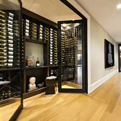 Count and.Nah just kidding wink emoticon The new redesigned champagne room at the office The CHAMPAGNE Foundation for ❤ Glass Wine Cellar, Home Wine Cellars, Wine Cellar Design, Caves, Wine Cellar Basement, California Room, Basement Inspiration, Home Bar Designs, Mansion Interior
