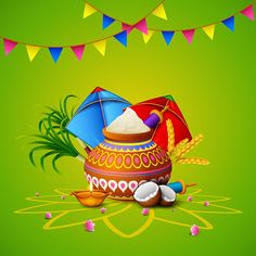 illustration of Happy Makar Sankranti greeting card Makar Sankranti Greetings, Happy Makar Sankranti, Diwali Greeting Cards, Diwali Greetings, Happy Pongal, Banner Background Hd, Rangoli Designs, Morning Images, Free Vector Art