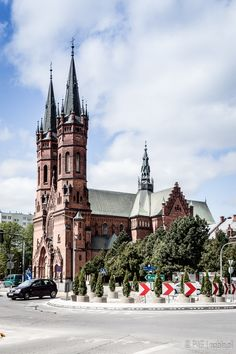 The hundred years old St. Family church on Gothic Revival style in Tarnów, southern Poland