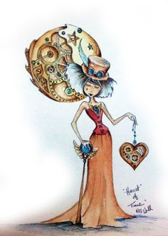 heart-of-time-streampunk-girl-art-print-copyright-s-m-wall-2012