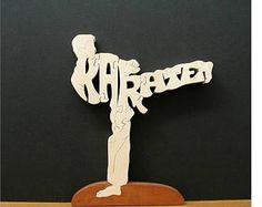 Puzzle madera Karate masculino corte en Sierra