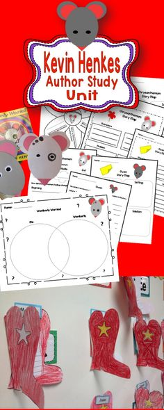 Kevin Henkes worksheets and craft activity!