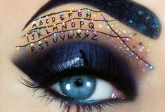 "beauty I Create Halloween Make Up Using Eyes As My Canvas Get Into The Halloween Spirit With This ""stranger Things"" Makeup Creative Eye Makeup, Eye Makeup Art, Eye Art, Disney Eye Makeup, Crazy Eye Makeup, Makeup Eyes, Beauty Makeup, Halloween Geist, Halloween Eyes"