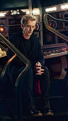 *The Doctor in his deep thinking mode...*  ‪#‎DoctorWho‬