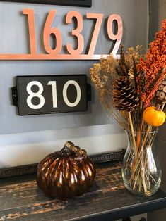 Fall colours celebrate the warmth of the season. A custom designed address plaque will welcome your autumn guests in style! Special Day, Special Events, Address Plaque, House Numbers, Flip Clock, Autumn, Fall, Custom Design, Colours