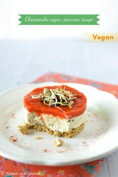 Cheesecake salé végétalien {cajou & poivron rouge} – Tomate Sans Graines, le blog engagé de Stéphanie Faustin