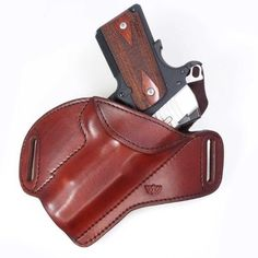 The Bronco™ is our (small of the back) SOB holster. It is an OWB holster designed in the fashion of a pancake holster. Very similar to the Predator™ pancake hol