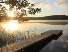 laituri-roope2 Summer Cabins, Enjoy The Silence, Lake Life, Heaven On Earth, Pond, Beautiful Places, Cottage, Boathouse, Landscape