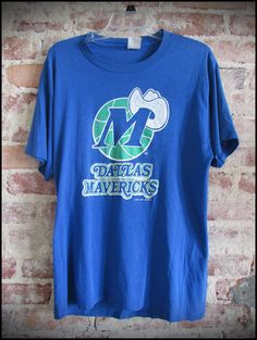 Vintage 80's NBA Dallas Mavericks Logo Shirt by RackRaidersVintage, $18.00