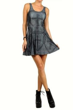 Chainmail Skater Dress - POPRAGEOUS  - 1