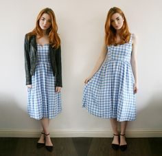 Outfit Of The Day | Blue Gingham Dress - Hannah Louise Fashion