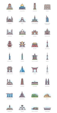 New York Discover 332 Landmarks 332 Landmarks on Behance Country Flags Icons, Japan Icon, Icon Png, Highlights, City Drawing, Travel Sights, City Icon, Flag Icon, Insta Icon