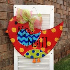 Bird Door Hanger by JustPlainADoorAble on Etsy, $40.00