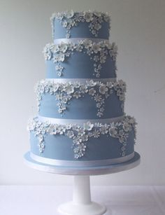 Wedgwood Blue...white flowers...outstanding...