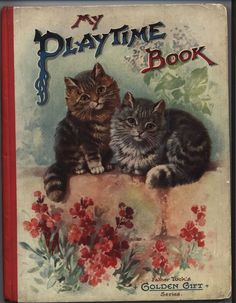 MY PLAYTIME BOOK two cats on bricks