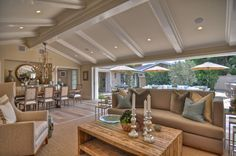 Blue and Beige Living Room   Interior Design Ideas Source: Houzz , by Orange County Design, Dolphin ...