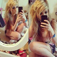 Marina joyce blonde hair blue eyes