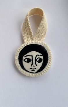 Embroidered Christmas ornament Ethiopian art by AnAstridEndeavor