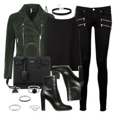 """Style #11498"" by vany-alvarado ❤ liked on Polyvore featuring Topshop, Paige Denim, Helmut Lang and Yves Saint Laurent"