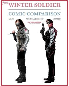 "7,874 Likes, 64 Comments - • Accurate.MCU • mcu fanpage (@accurate.mcu) on Instagram: ""• WINTER SOLDIER - COMIC COMPARISON • I kinda forgot that I never did a winter soldier comparison…"""