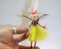 ooak poseable BUG creature Pixie Fairy 63  art doll by
