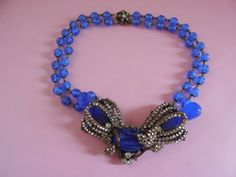 STUNNING Rare Signed Miriam Hasjell Cobalt Blue by MICSJWL on Etsy