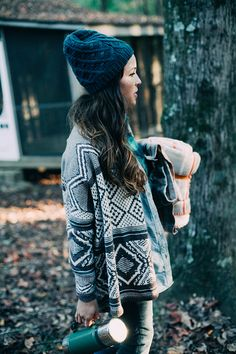 Cosy clothes & a flask of hot tea. Picnic in the woods anyone?