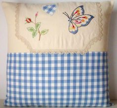 French Linen Needlepoint Embroidery Butterfly by Retrocollects, £22.00