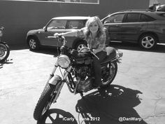 Jennette McCurdy on a motorcycle