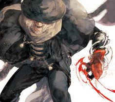 Bloodborne The Old Hunters, Bloodborne / ブラボまとめ / August 2015 - pixiv Dark Souls, Character Art, Character Design, Character Inspiration, Bloodborne Art, Soul Game, Old Blood, Video Game Art, Video Games