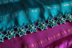 Saree Kuchu New Designs, Saree Jacket Designs, Saree Tassels Designs, Saree Blouse Neck Designs, Fancy Blouse Designs, Saree Jackets, Designer Blouse Patterns, Lace Decor, Tatting Patterns
