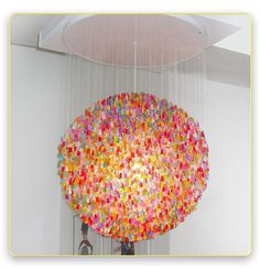 A Gummy Bear Chandelier Created With Over 5,000 Gummy Bears