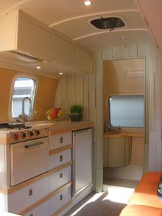 Airstream remodel; traditional kitchen by Amy Carman Design