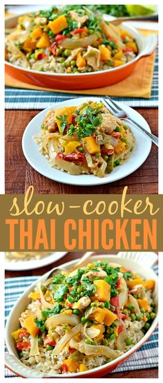 Slow Cooker Thai Chicken // Well-Plated