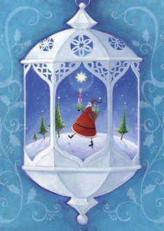 Santa in lantern / Mila Marquis