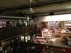 Sphères - cozy cafe and bookstore Cozy Cafe, Zurich, Four Square, Track Lighting, Liquor Cabinet, Ceiling Lights, Places, Furniture, Home Decor