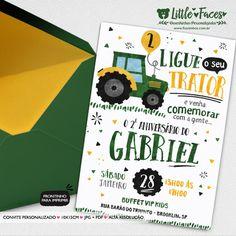 Convite Aniversário Trator Fazendinha