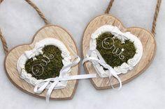Duo de Cœurs Porte alliances ♥ mariage champêtre, shabby chic, nature : Accessoires de maison par tendancebijoux